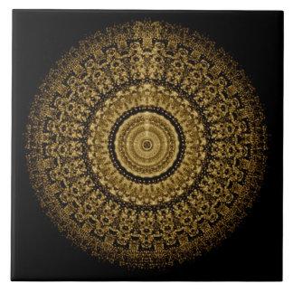 Sepia Mandala Tile