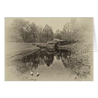Sepia Mill Card