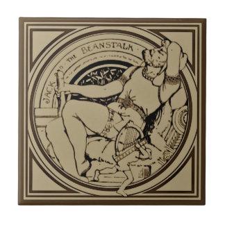 Sepia Minton Jack & Beanstalk Fairy Tale Tile