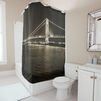 Sepia Narrows Shower Curtain
