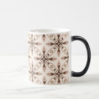 Sepia Neo Victorian Woodland Fractal Coffee Mug