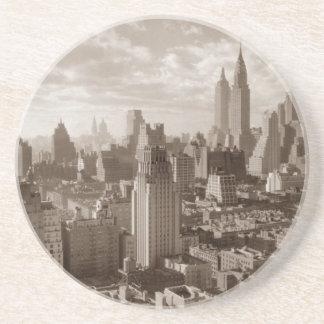 Sepia New York City Coaster