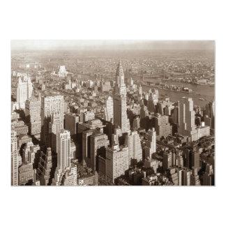 Sepia New York City Invitation