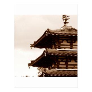 Sepia Pagoda Postcard