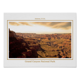 Sepia Poster of the Grand Canyon