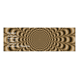 Sepia Pulse Card Double-Sided Mini Business Cards (Pack Of 20)