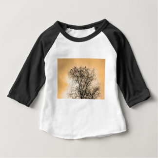 Sepia Roosting birds Baby T-Shirt