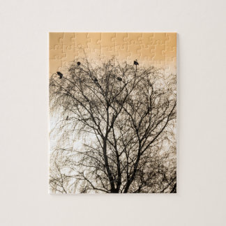 Sepia Roosting birds Jigsaw Puzzle