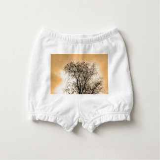 Sepia Roosting birds Nappy Cover