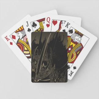 Sepia Sci Fi Fractal Poker Deck