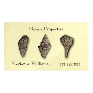 Sepia Sea Shells Business Card Template