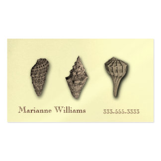 Sepia Sea Shells Mommy ,Calling or Business Card