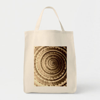 Sepia Seashell Grocery Tote Grocery Tote Bag