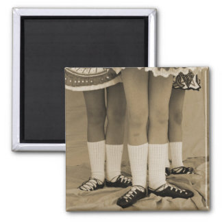 Sepia Soft Shoes Square Magnet
