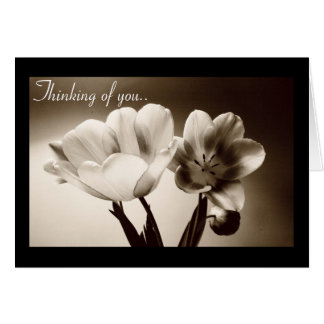 Sepia Spring Tulips Customizeable Card