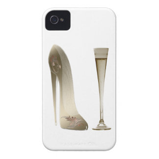 Sepia Stiletto Shoe and Celebration Champagne iPhone 4 Case-Mate Cases