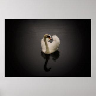 Sepia Swan print