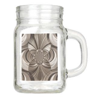 Sepia swirl mason jar mug
