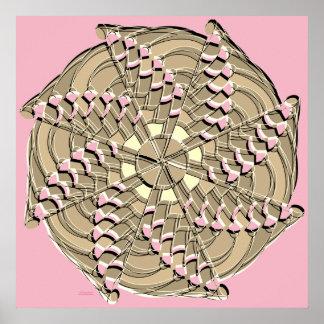Sepia Swirl - Poster