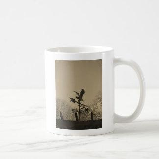 Sepia Tone Eagle Weather vane Basic White Mug