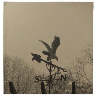 Sepia Tone Eagle Weather vane Napkins