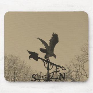 Sepia Tone Eagle Weather vane Mousepads