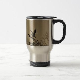 Sepia Tone Eagle Weather vane Stainless Steel Travel Mug
