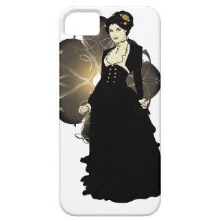 Sepia Tone Victorian Lady iPhone 5 Covers