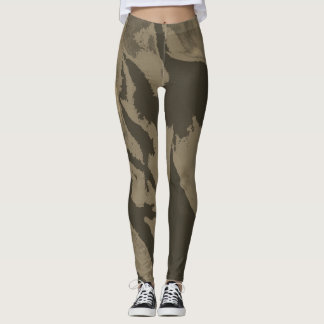 Sepia Toned Abstract - Leggings