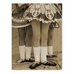 Sepia Toned Irish Dance Postcard