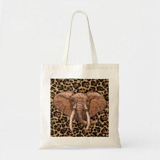 Sepia Tribal Elephant tote bag