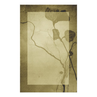 Sepia Vintage Leaf Stationery