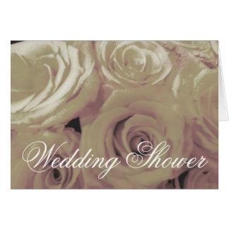 Sepia Vintage-look Roses Bridal Shower Card