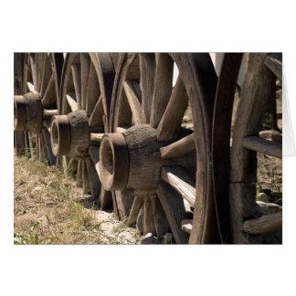 Sepia Wagon Wheels Card