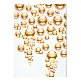 Sepia water droplets personalized announcement