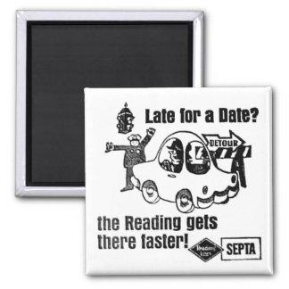 Septa Reading Lines Service Fridge Magnet