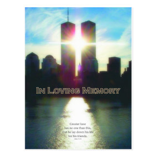 September 11 In Loving Memory Postcard