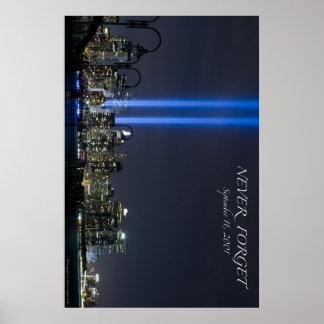 September 11 Memorial Lights Poster