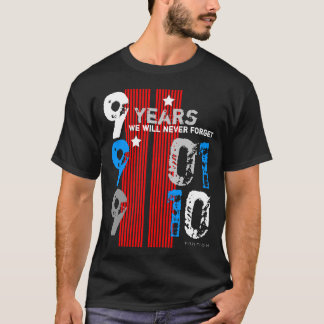 September 11 Memory In 9 Years Black T-Shirt