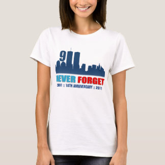 September 11th - Never Forget - WTC Skyline Shirt