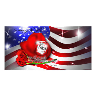 September 9/11 memorial Photo Card
