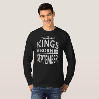 September Birthday Man Cool Gift-Kings are Born T-Shirt