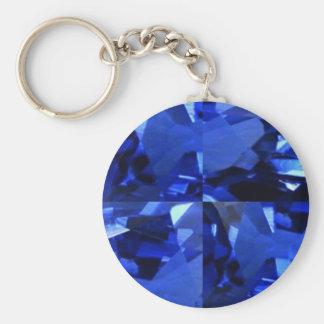 September Birthstone Gems Basic Round Button Key Ring