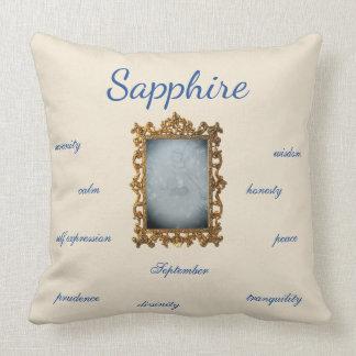 September Birthstone Sapphire Fairy Throw Pillow