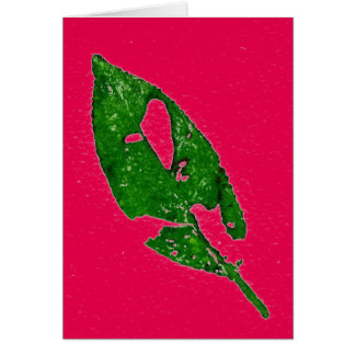 """""""September Leaf on Hot Pink"""" Country Greeting Card"""