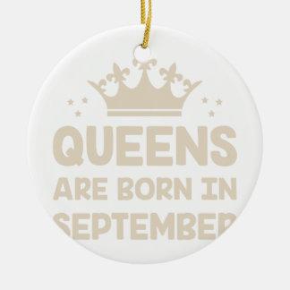 September Queen Ceramic Ornament