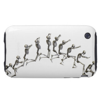 Sequence illustrating a human skeleton jumping iPhone 3 tough covers