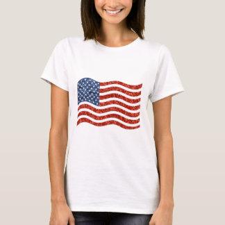 sequin american flag T-Shirt