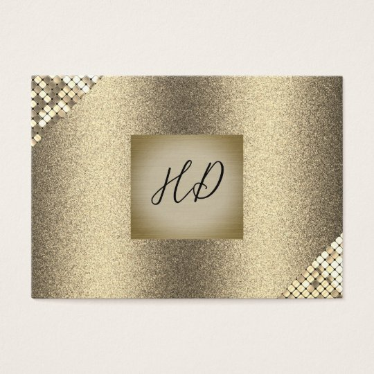 Sequin and Glitter / Executive Gold (Executive) Business Card