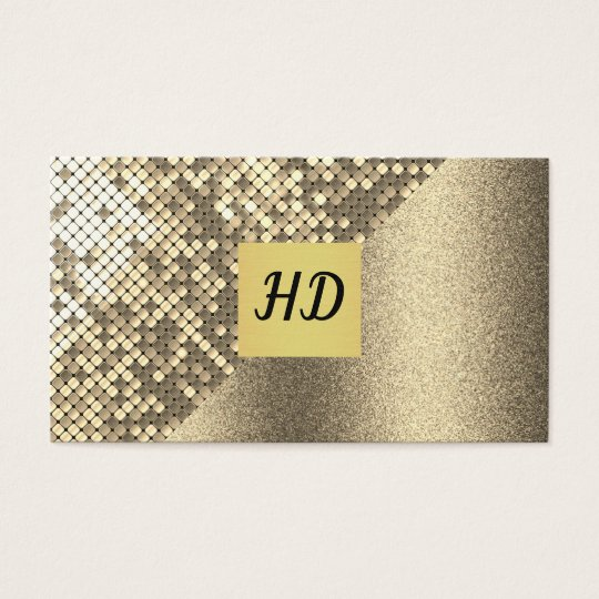 Sequin and Glitter / Gold Lux Business Card